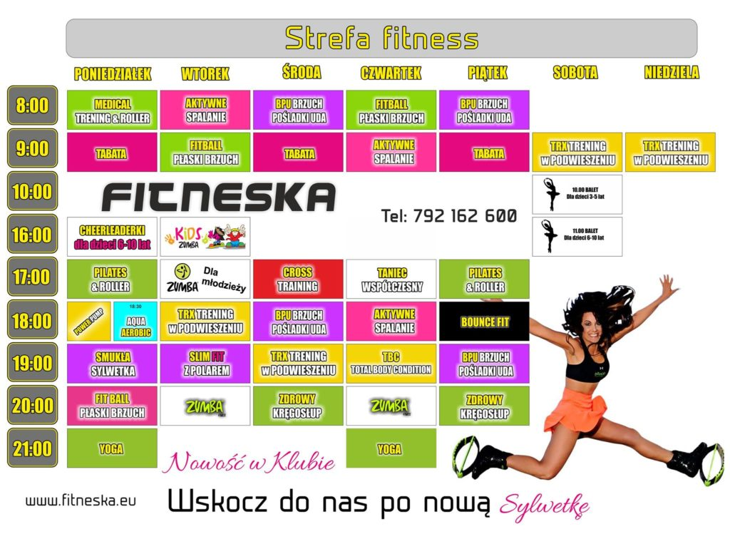Harmonogram fitness Tarnobrzeg FITNESKA